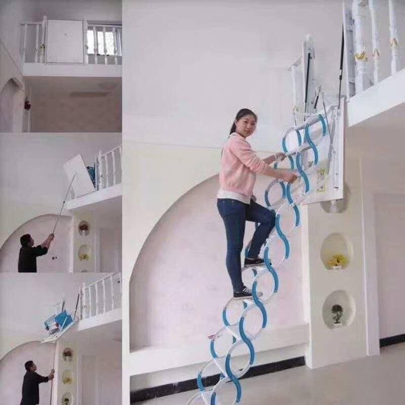全自动阁楼专用楼梯使用方法